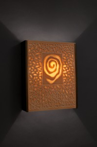 hand carved clay lighting